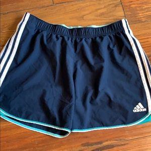 Adidas navy athletic shorts large